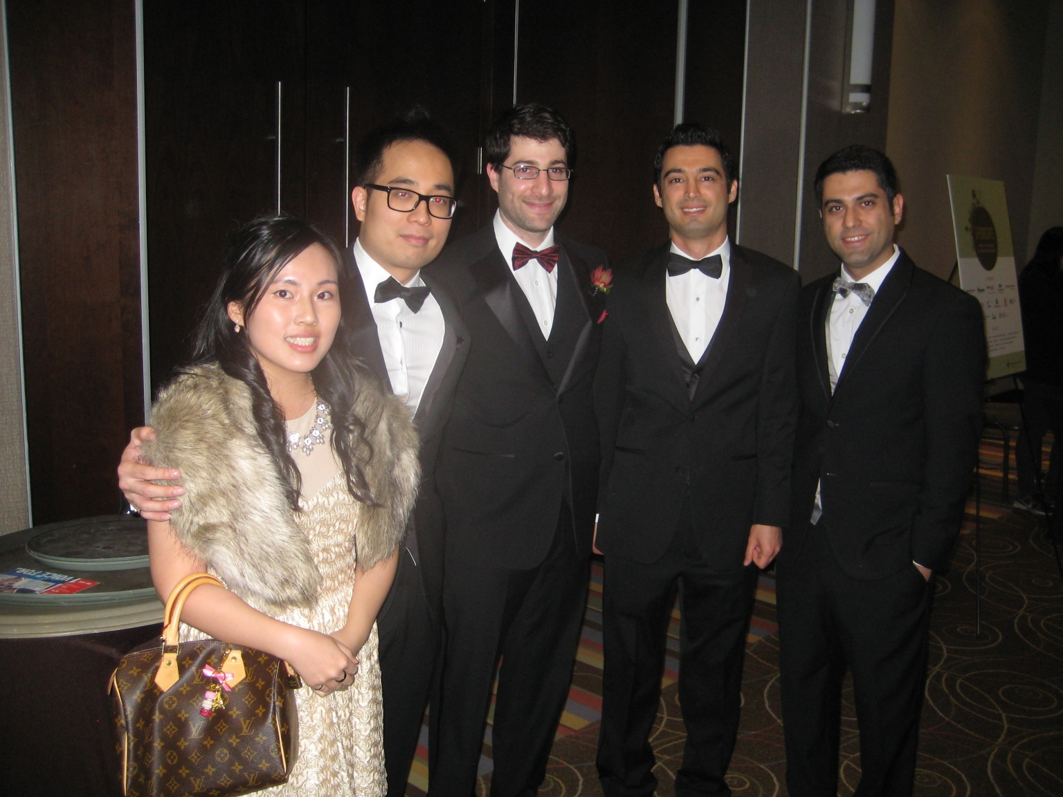 The Dworkin group at the 2015 PEO awards gala, from left to right: Emily Law, Hiep Nguyen, Prof. Seth Dworkin, Ali Khosousi, Meysam Sahafzadeh